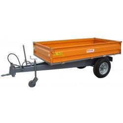 Remorque à bennage hydraulique à ridelles RMTB1425
