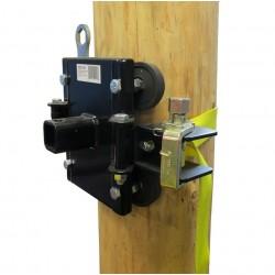Système d'ancrage pour treuil pour arbres et poteaux