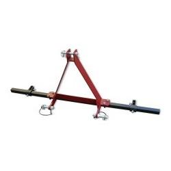 BPOMIC1BR - Barre porte outils 1 bride 40 x 14 - L.T. 85 cm. - MAJAR